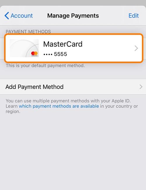 4. เลือกบัตร MasterCard (WeCard) ที่ผูกไว้