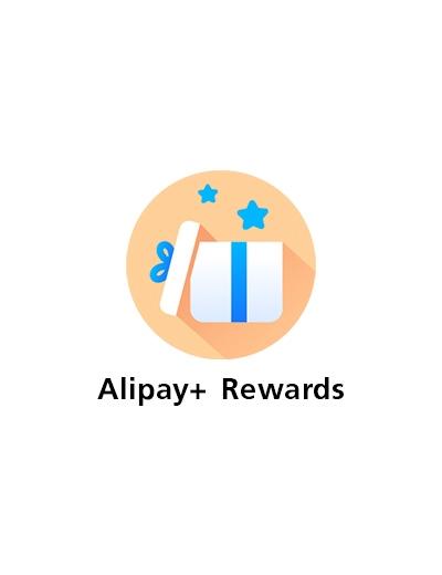 1. กดที่ ไอคอน <b>Alipay+ Rewards</b><br><small>(กรุณาอัปเดทแอปเวอร์ชั่น 5.25.0 ขึ้นไปก่อนใช้บริการ)</small>